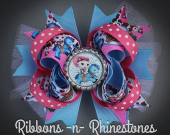 Sheriff Callie's Wild West Boutique Style Hair Bow, Sheriff Callie Bow, Sheriff Callie Birthday Bow, Sheriff Callie Party, Sheriff Callie
