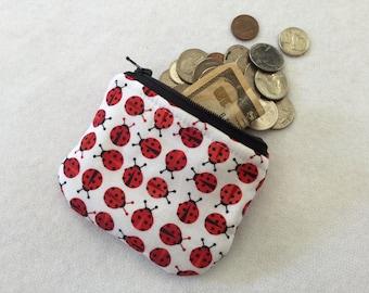 Ladybug coin pouch