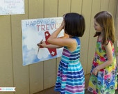 Pin the Propellor on the Plane Printable Birthday Game - Personalized