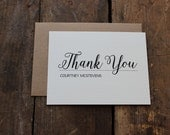 Elegant and Classic Personalized Thank You Note, Interview Thank You, From the Desk of Stationery, Set of 10