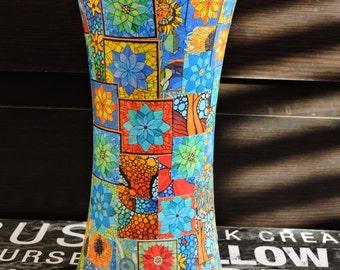 Glass Vase, Vase,Decoupage Glass, Home Decoration, Home Decor, Glass Vase, Mosaic, Art Work