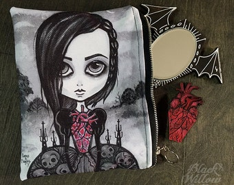 My Coffin Heart Zipper Bag by Lupe Flores