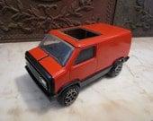 Vintage Sunburnt Orange and Black, 'Tonka' Van!