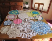 Lot of  Vintage Crocheted Doilies Doily Excellent