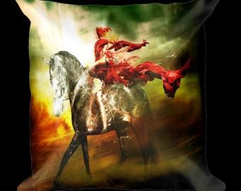 Riding Hood and Horse Designer Throw Pillow
