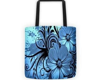 Fractal Flowers Designer Tote Bag