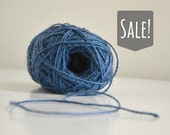 Blue Rustic Jute Twine / string / Yarn - for crafting, gift wrap, packing, scrapbook, wedding favors