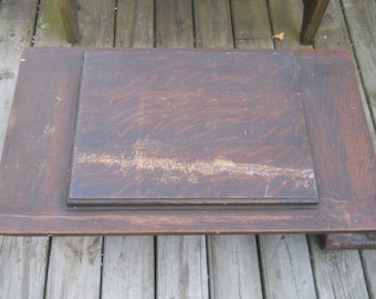 Antique Wood Treadle Sewing Machine Table Top--Damascus Sewing Machine Came out of this Cabinet-#8