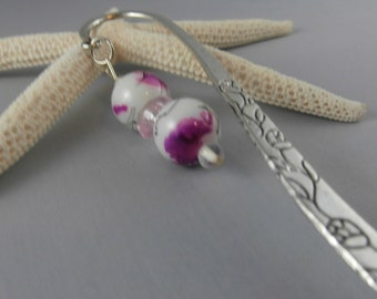 Purple Paintbrush Flower Bookmark