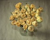 30 Natural Dry Roses - Natural Color - Roses for Weddings-Luck-Love-Romance and all other Matters of the Heart - Pink Roses - Dried Flowers