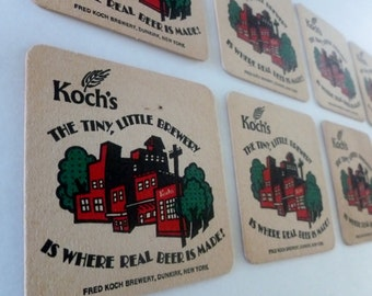 Koch's Brewery,vintage BEER coasters, SET OF 12! Excellent price!