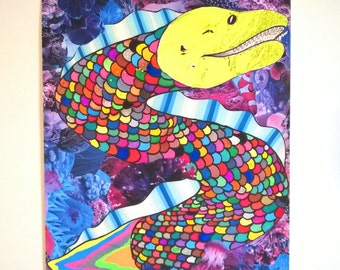 Rainbow Moray Eel print