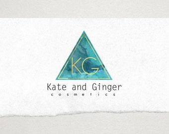 Premade Logo // Logo Design // Business Logo // Photography Logo // Watercolor Logo // Modern Triangle Logo