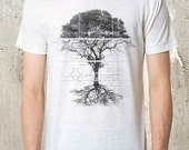 Tree Schematics and Diagram - Men's Triblend T-Shirt - American Apparel - Men's Small Through 2XL Available