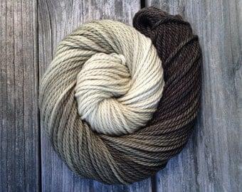 Hand Dyed Bulky Yarn, Merino Yarn, Hand Dyed Yarn