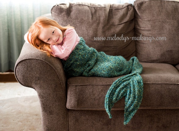 Mermaid Afghan Knitting Pattern Free : Child Mermaid Tail Lapghan Knitting Pattern Child Mermaid