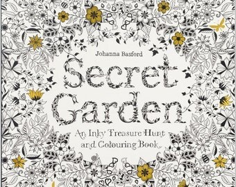 Adult Coloring Book - Secret Garden: An Inky Treasure Hunt and Coloring Book - Shipping Only 4 Dollars (454075)