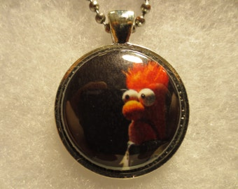 Beaker Muppet Show  1 inch Button Pendant with Chain