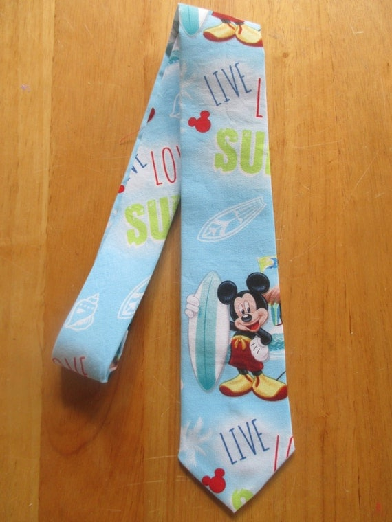Mickey Mouse Surfing Necktie Formal Night