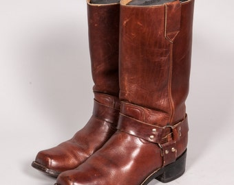 Tall Brown Motorcycle Boot Men's Size 8 .5