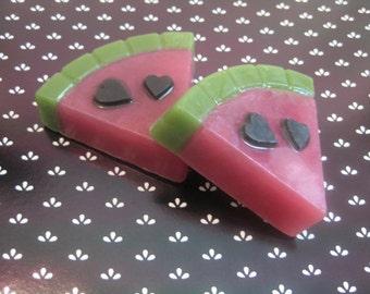 Slice of Love, Watermelon, hearts, gift idea, summer soap