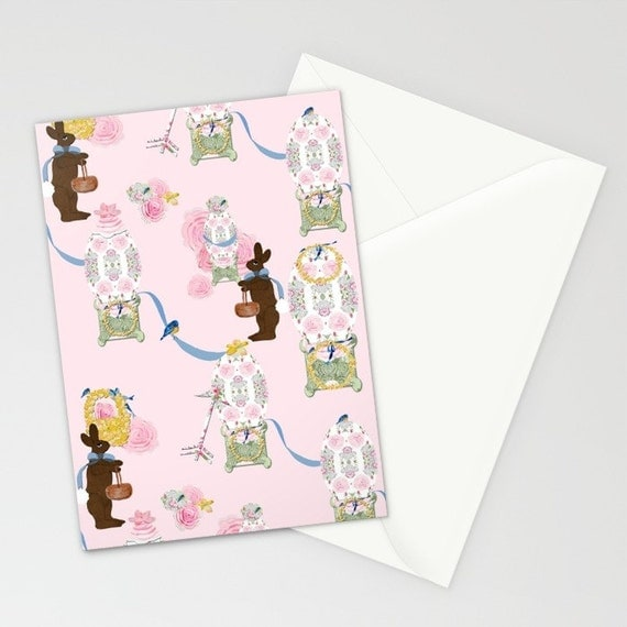 Blank Note Cards, Easter Bunny Factory