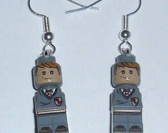 LEGO Ron Weasley Earrings *DIY*Micro Figure*Harry Potter*et*