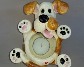 Dog tealight holder