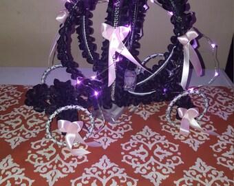 Lighted Cinderella carriage centerpeice  sweet 15/16   babyshower birthday