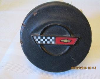 Vintage Chev Horn Button with Chev emblem, Center Horn Cap, Car Parts, Restoration  Truck Parts