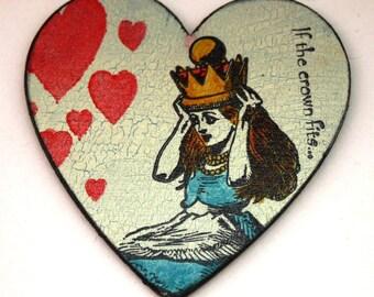 Alice In Wonderland Love Heart Fridge Magnet