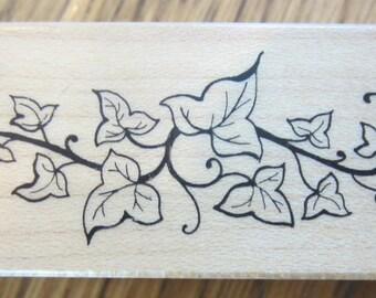 Psx C-542 Ivy Vine Vining Swag Wooden Rubber Stamp