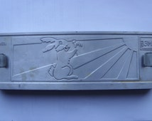 Vintage Soviet Aluminum Hare-Wolf-Elephant-shaped MOLD for making CANDY SWEET
