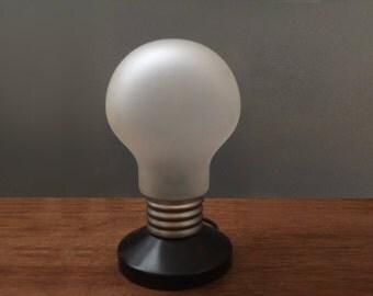 Vintage Light Bulb Pop Art Table Lamp Glass Light inspired by Ingo Maurer Mod 1970s 70s