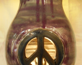 Peace Sign Nightlight Lamp Vase #NLL008