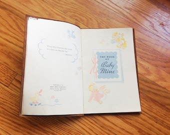 """Vintage """"The Book of Baby Mine"""" Baby Book, 1947 - FREE SHIPPING"""