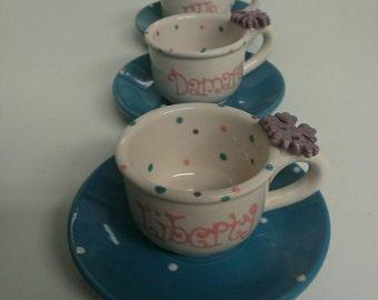 10 child's Personalized  Frozen tea cup