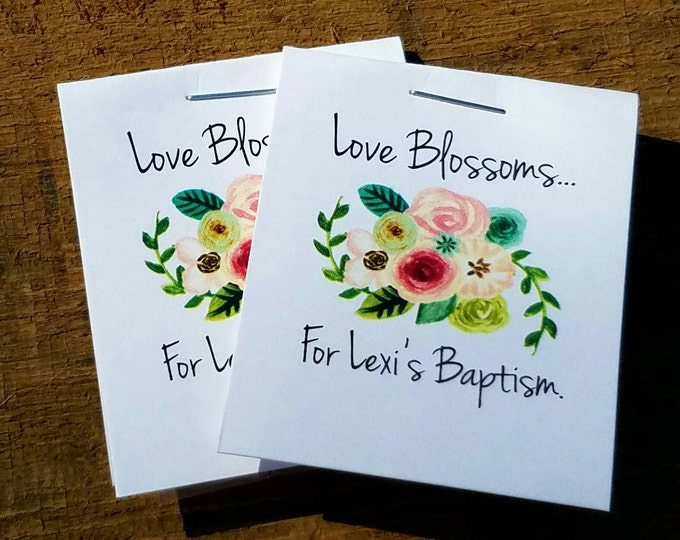 Cutest. Little. Favors. EVER. Personalized Baptism Keepsakes - Inexpensive and Practical