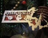 Massachusetts Ornament