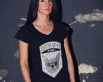 BAD Patch V Neck Shirt / Available in S-M-L-XL-2XL