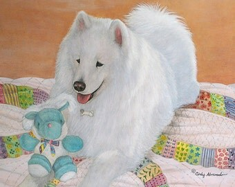 "Your Pet in a Custom 16"" x 20"" Watercolor Portrait by Cindy Alvarado"