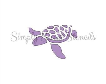 Sea Turtle Stencil 2