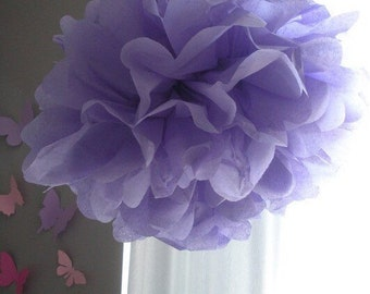 1 Lavender Tissue Paper Pom Pom, paper pom pom, wedding decoration, pom flower