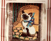 "Rainbow Stitchery ""Siamese Cat"" By Kay De Greef Embroidery"