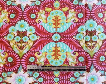 Tula Pink Slow and Steady The Tortoise in Orange Crush 1 Yard