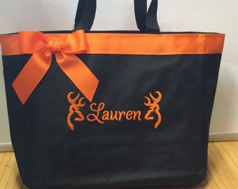 Personalized Browning Buck Deer Hunting Tote Diaper Bag