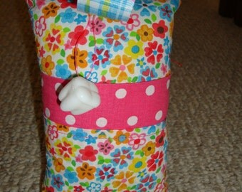 Tooth Fairy Pillow with tooth holder: Toothfairypillow, Plastic tooth holder, Flowers, Dots, Plaid, Tooth, Fairy, Girls
