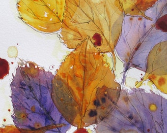 Autumn Leaves Botanical Print