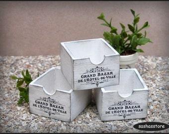 Dollhouse miniature wooden crate, storage box, 1:12 dollhouse home decor, shabby miniature