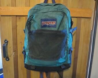 JANSPORT Vintage Backpack - Green Jansport Backpack Southwest Trim